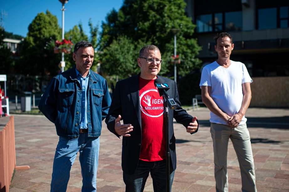 Balról: Barta László, Székely Sándor és Krizs Norbert Fotó: L.B. / NMH